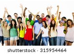 large group of people... | Shutterstock . vector #315954464