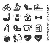 healthy icon set | Shutterstock .eps vector #315955355