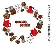 coffee background. vector... | Shutterstock .eps vector #315967715