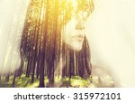 portrait of a young woman with... | Shutterstock . vector #315972101