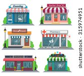 shops and stores icons set in... | Shutterstock .eps vector #315974951
