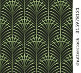 Palm Leaves Vector Seamless...