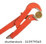 instrument holding coin on... | Shutterstock . vector #315979565