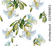 Seamless Floral Pattern.lilies...