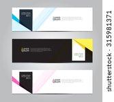 vector design banner background. | Shutterstock .eps vector #315981371