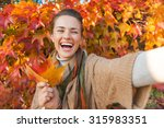 portrait of cheerful young... | Shutterstock . vector #315983351
