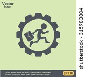 running businessman inside the...   Shutterstock .eps vector #315983804