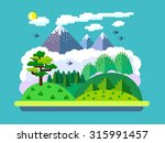 vector flat landscape with... | Shutterstock .eps vector #315991457