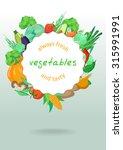 a vector border of delicious... | Shutterstock .eps vector #315991991