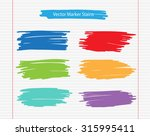 colorful marker stains.grunge... | Shutterstock .eps vector #315995411