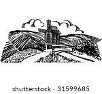 windmill in the fields vector... | Shutterstock .eps vector #31599685