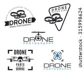 set of drone logos  badges ... | Shutterstock .eps vector #315998624