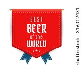 best beer red pennant or flag. ... | Shutterstock .eps vector #316012481