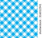 Blue Tablecloth Diagonal...