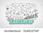 leadership text  with creative... | Shutterstock .eps vector #316012769
