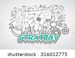 strategy text  with creative... | Shutterstock .eps vector #316012775