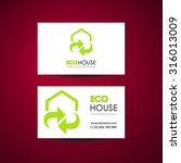 eco home and real estate logo... | Shutterstock .eps vector #316013009