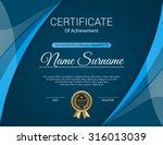 vector certificate template. | Shutterstock .eps vector #316013039