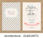 cute wedding invitation card  ... | Shutterstock .eps vector #316014071