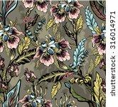 seamless pattern of decorative... | Shutterstock .eps vector #316014971