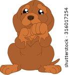 brown cartoon puppy   Shutterstock .eps vector #316017254
