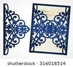 abstract cutout wedding... | Shutterstock .eps vector #316018514