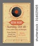 retro music party celebration...   Shutterstock .eps vector #316025405
