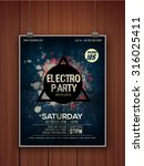 creative stylish hanging flyer  ... | Shutterstock .eps vector #316025411