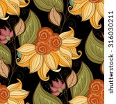 vector seamless floral pattern. ... | Shutterstock .eps vector #316030211