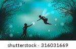Deep Fairy Forest Silhouette A...