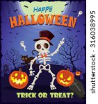 vintage halloween design set... | Shutterstock .eps vector #316038995