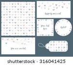 wedding set hearts design ...   Shutterstock .eps vector #316041425