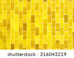 yellow mosaic tiles | Shutterstock . vector #316043219