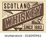 retro whiskey label. vector | Shutterstock .eps vector #316045961