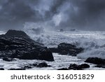 Typical Sea Storm From Norther...