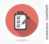 checklist  icon with long... | Shutterstock .eps vector #316059695