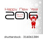 2016 new year card or... | Shutterstock . vector #316061384