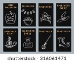 halloween cards. made with ink. ... | Shutterstock .eps vector #316061471