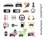 car specification and... | Shutterstock .eps vector #316067627