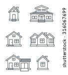 houses icons set.  | Shutterstock .eps vector #316067699