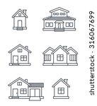 houses icons set.  | Shutterstock .eps vector #316067699