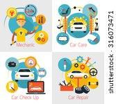 mechanic and car maintenance... | Shutterstock .eps vector #316073471