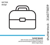 briefcase  linear icon | Shutterstock .eps vector #316075859