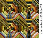 set of different ethnic textures | Shutterstock . vector #316076891