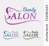 beauty salon logo design with... | Shutterstock .eps vector #316081661