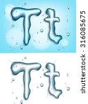alphabet water  letter t | Shutterstock .eps vector #316085675