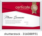 certificate template with... | Shutterstock .eps vector #316088951