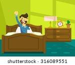 good morning. vector flat...   Shutterstock .eps vector #316089551