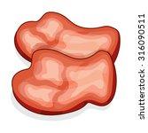 meat steak isolated... | Shutterstock .eps vector #316090511