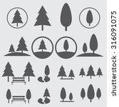 park icon set | Shutterstock .eps vector #316091075
